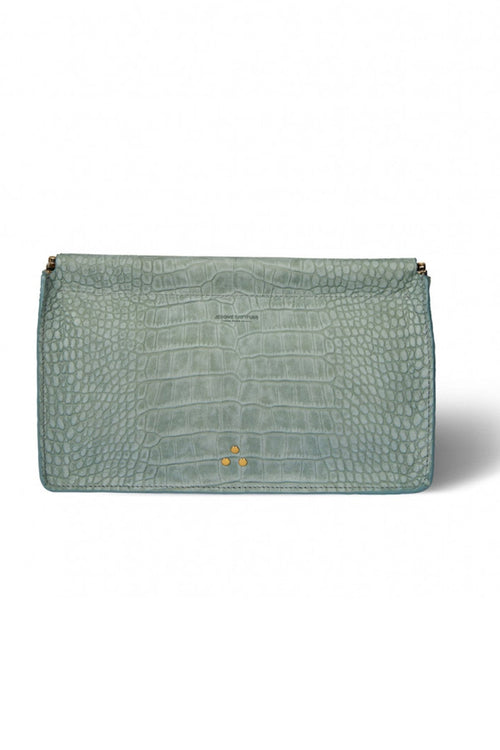 Clic Clac Large Clutch in Lichen Croc