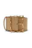 Geo Chain Belt in Tan