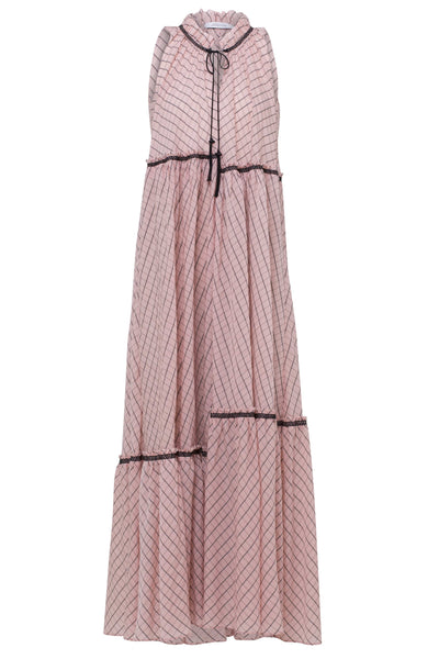 Checked Transparencies Dress in Rose Check TS