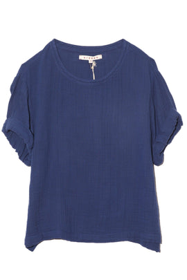 Savoy Top in Capri Blue