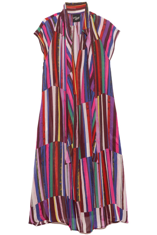 Caroline Dress in Dark Stripe