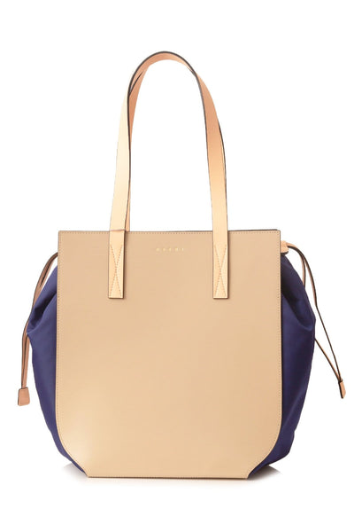 Gusset Shopping Bag in Light Camel