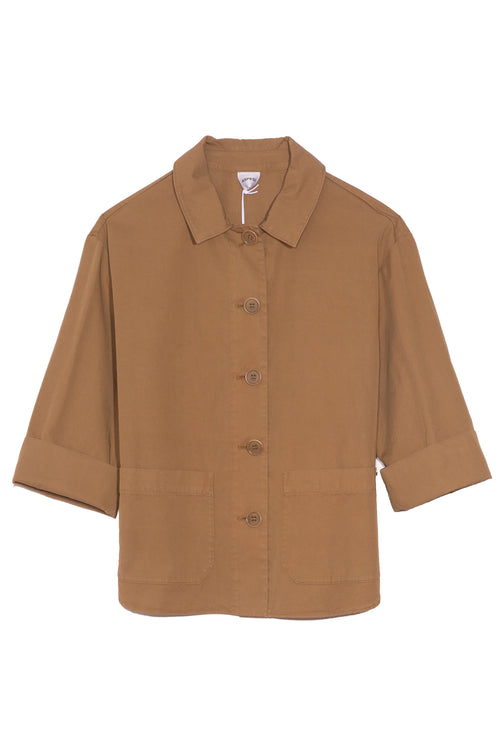 Button Front Jacket in Khaki
