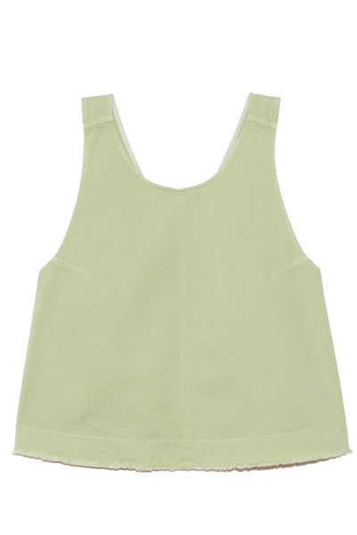 Cotton Gabardine Crossed Top in Mint