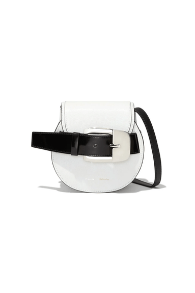 Buckle Mini Crossbody in Optic White