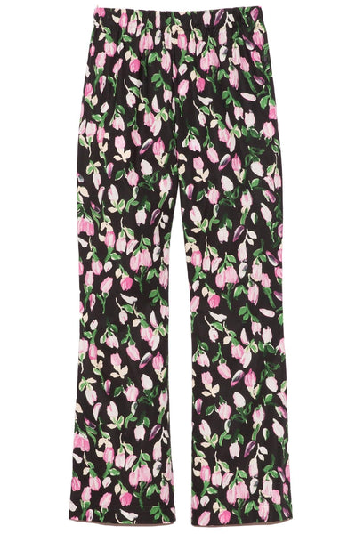 Printed Pajama Trouser in Black