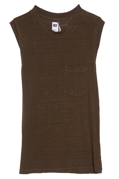 Claire Muscle Tee in Cargo