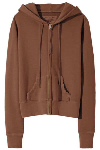 Callie Zip Up Hoodie in Brown