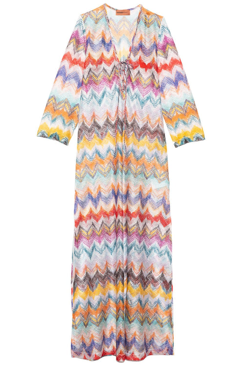 Classic Chevron Caftan in Multi