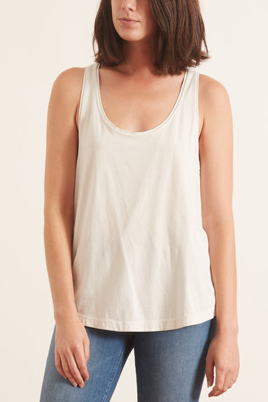 Solid Jersey Tank in Light Cement