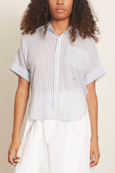 Stripe Charlie Shirt in Blue/White