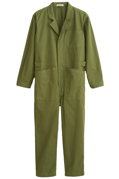 Cotton Jumpsuit in Army Green