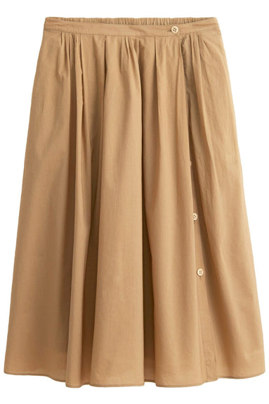 Cotton Midi Skirt in Vintage Khaki