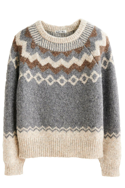 Fair Isle Sweater in Grey