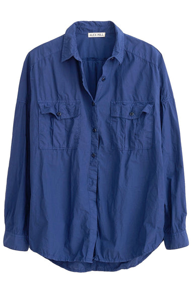 Oversized Garment Dyed Shirt in Navy