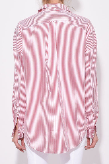 Oversized Stripe Shirt in Red