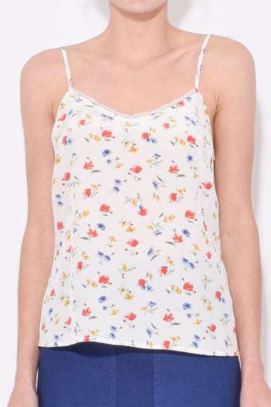 Silk Cami in Brushed Floral