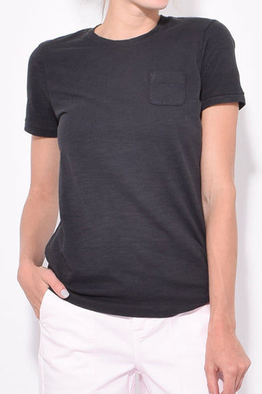 Slub Pocket Tee in Black