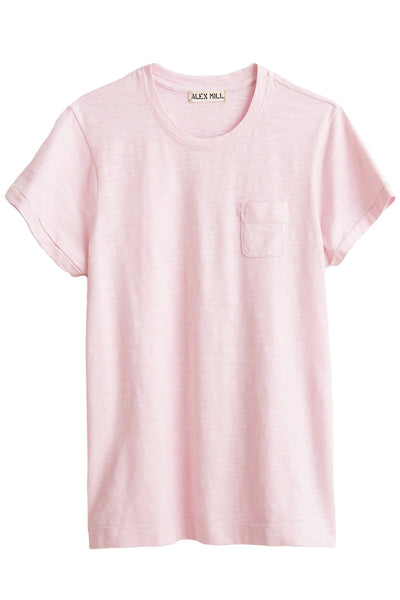 Slub Pocket Tee in Light Pink