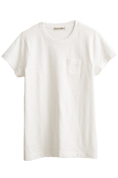 Slub Pocket Tee in White
