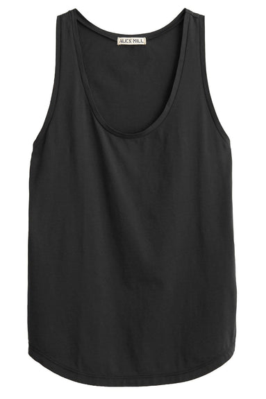 Solid Jersey Tank in Black