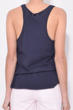 Solid Jersey Tank in Navy
