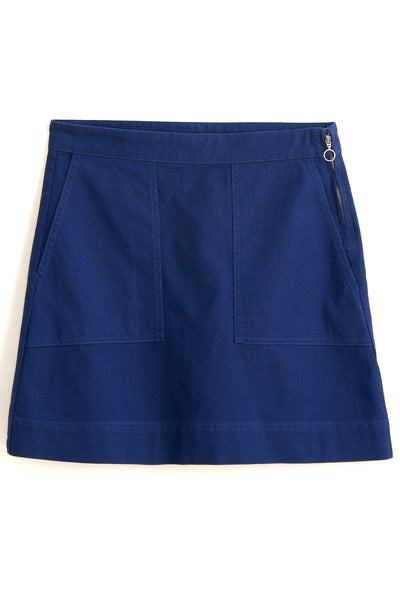 Twill Mini Skirt in Navy