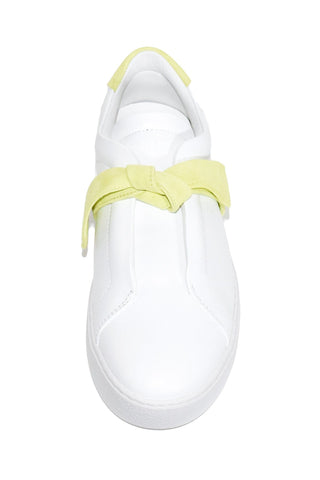 Clarita Sneaker in White/Lemon