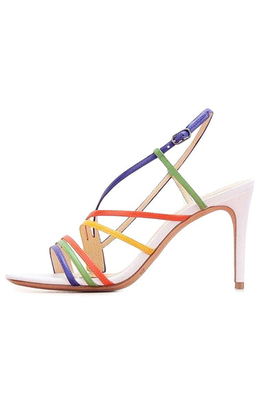 Strappy 75 Sandal in Kiwi/Sunflower/White