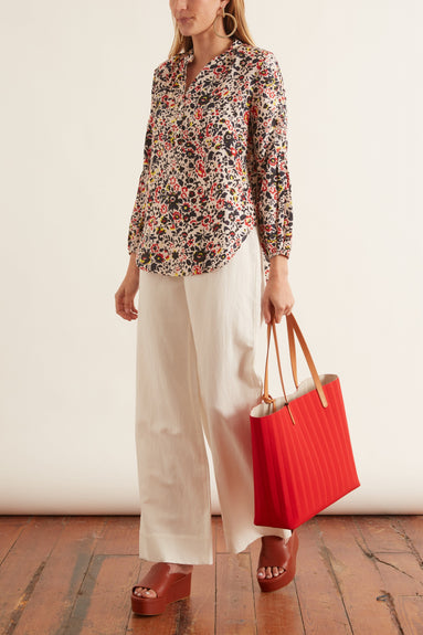 Bravo Top in Antonia Floral Red