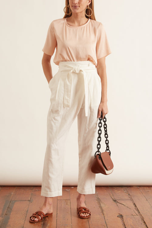 Isa Wrap Pant in Cream
