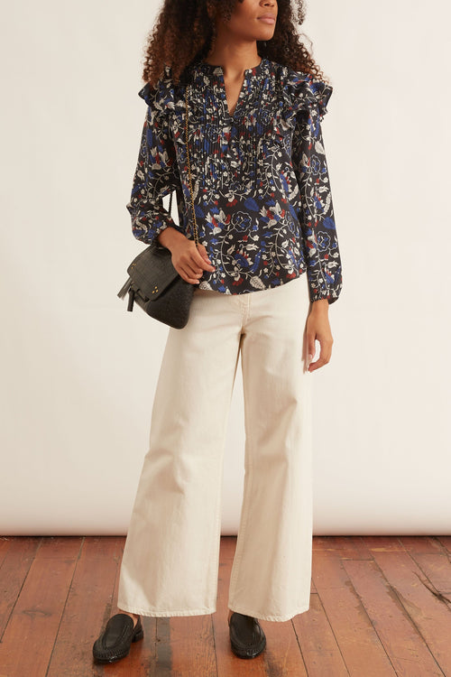 Jaya Ruffle Blouse in Vida East Floral