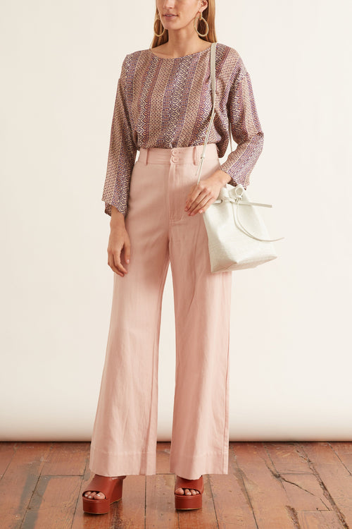 Long Merida Pant in Blush