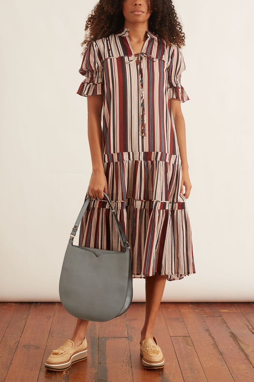 Los Altos Dress in Sienna Stripe