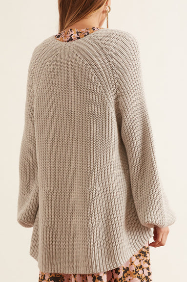 V-Neck Sequoia Sweater in Grey