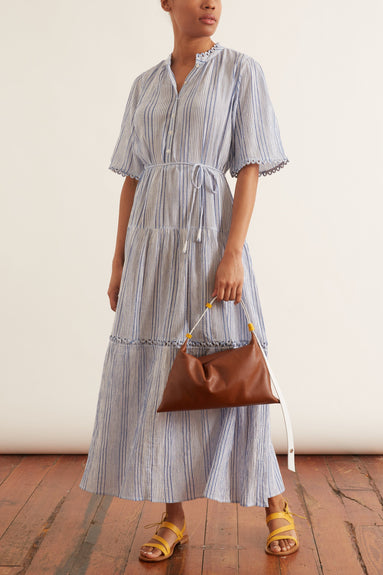 Alta Dress in Adriatic Mini Stripe
