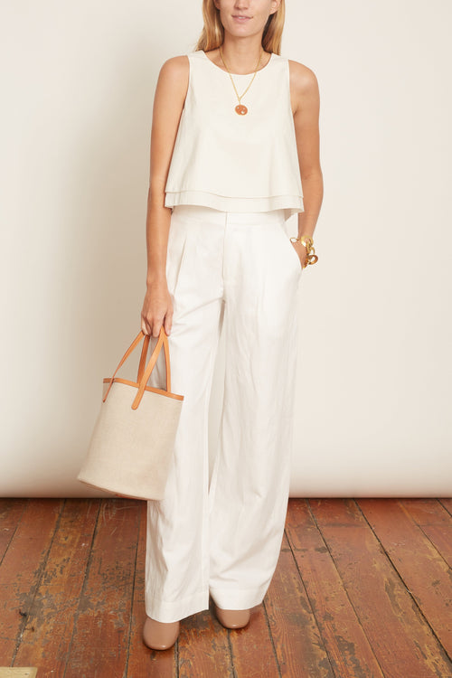 Agnes Sleeveless Top in Cream