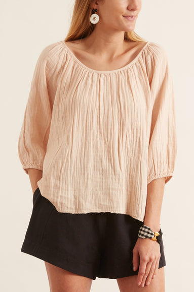 Esa Long Sleeve Top in Blush