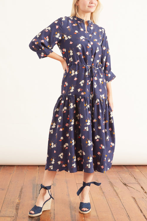 Dunegrass Dress in Navy Aster Floral