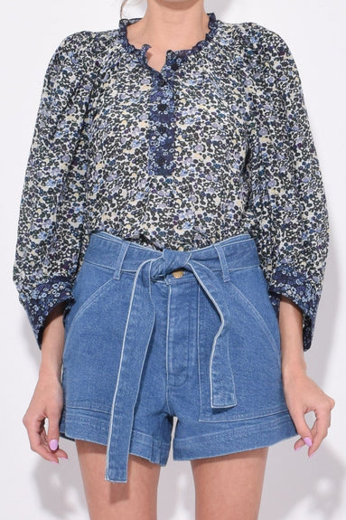 Everlastings Top in Navy Floral