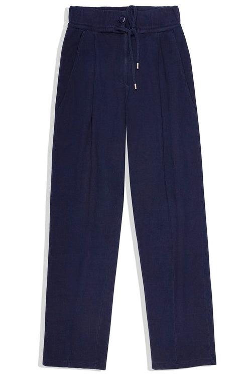Josephine Drop Crotch Sweatpant in Navy