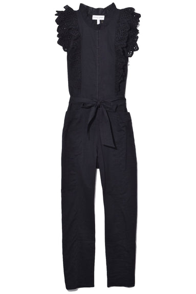Limon Eyelet Jumpsuit in Black