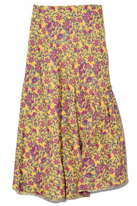 Nieto Bias Skirt in Potpourri Sun