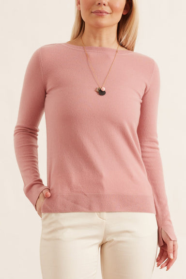 Beatrix Sweater in Dusty Pink