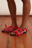 Apache Bandana Sandal in Red
