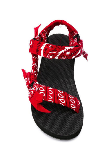 Trekky Bandana Sandal in Red