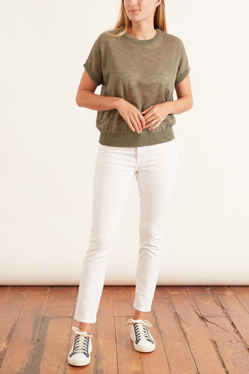 High Rise Skinny Jean in White