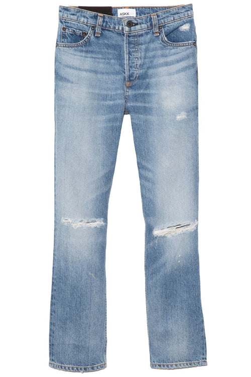 High Rise Straight Jean in Can Can