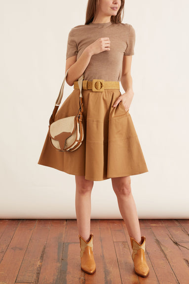 Circle Skirt in Biscuit Brown
