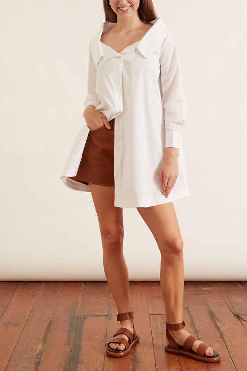 A-Line Blouse in White